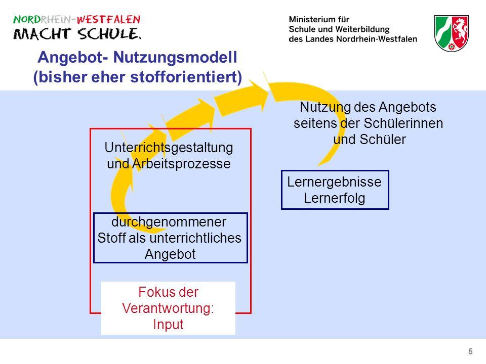 Angebot- Nutzungsmodell (bisher eher stofforientiert)