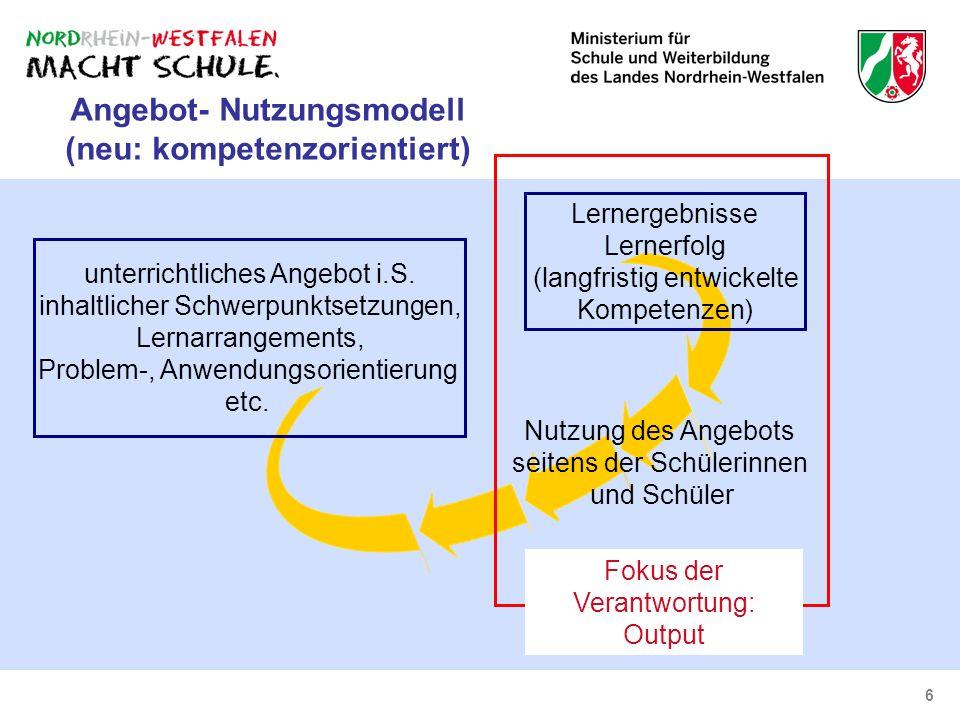 Angebot- Nutzungsmodell (neu: kompetenzorientiert)