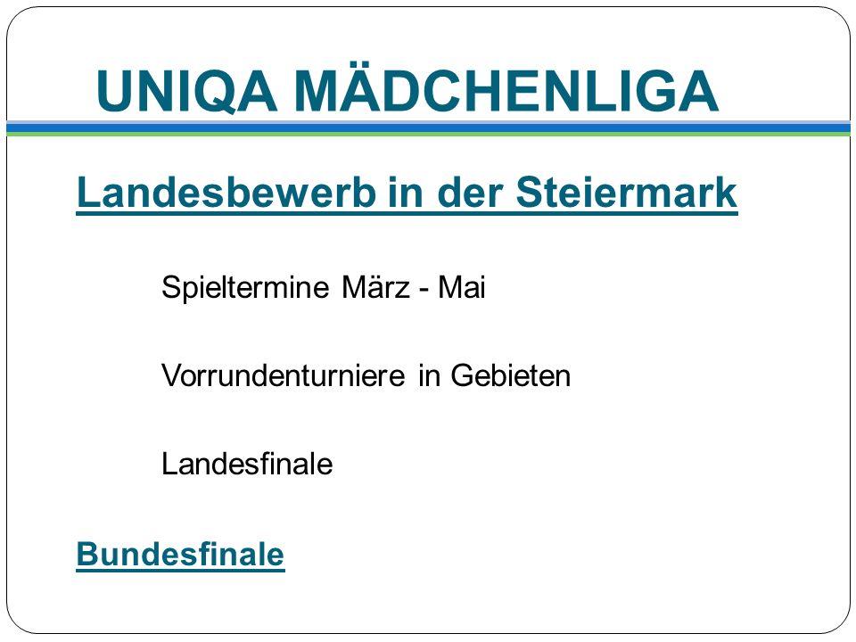 UNIQA MÄDCHENLIGA Landesbewerb in der Steiermark Bundesfinale