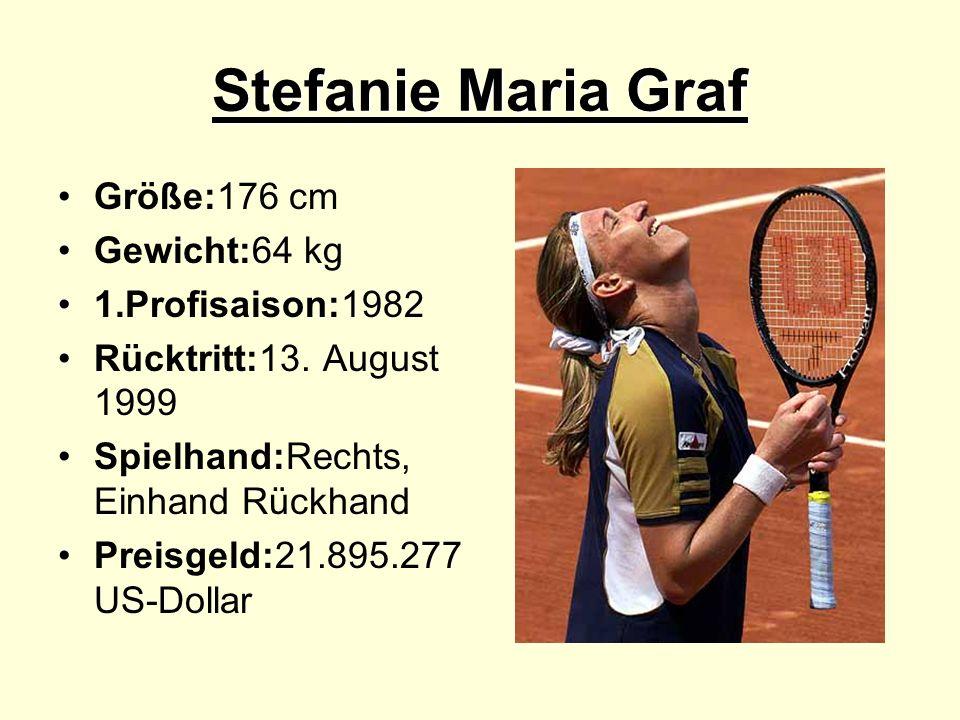 Stefanie Maria Graf Größe:176 cm Gewicht:64 kg 1.Profisaison:1982