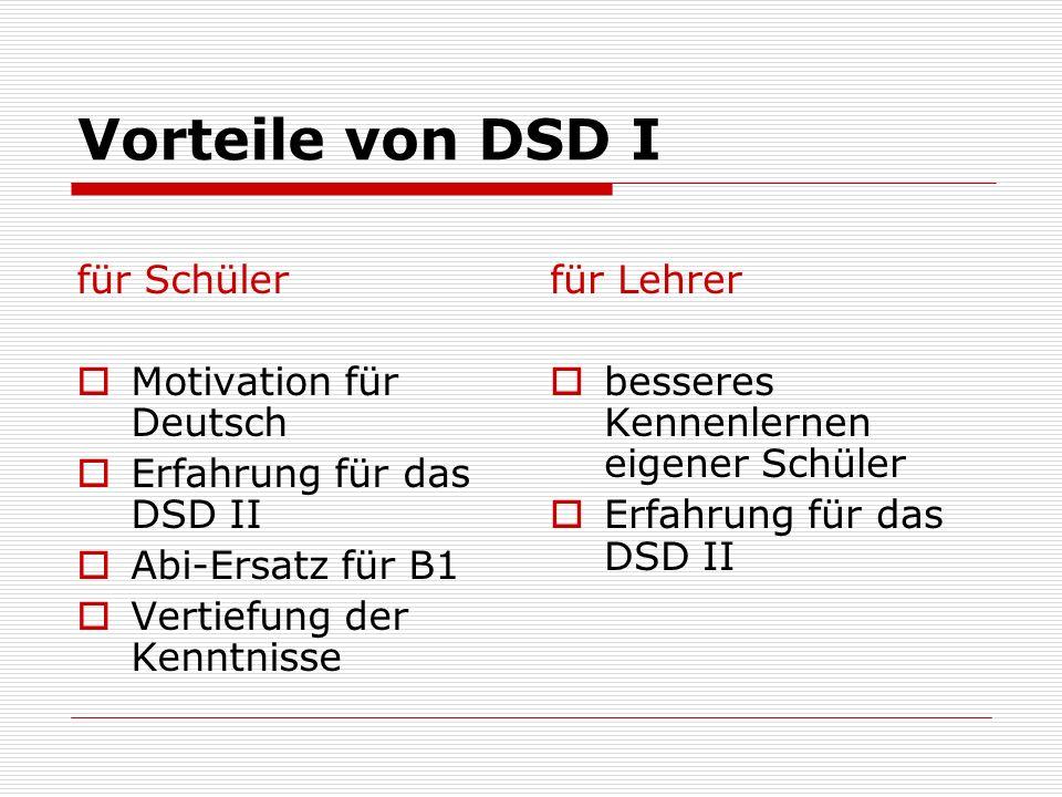 Vorteile von DSD I für Schüler Motivation für Deutsch