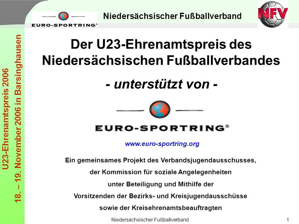 Der U23-Ehrenamtspreis des Niedersächsischen Fußballverbandes