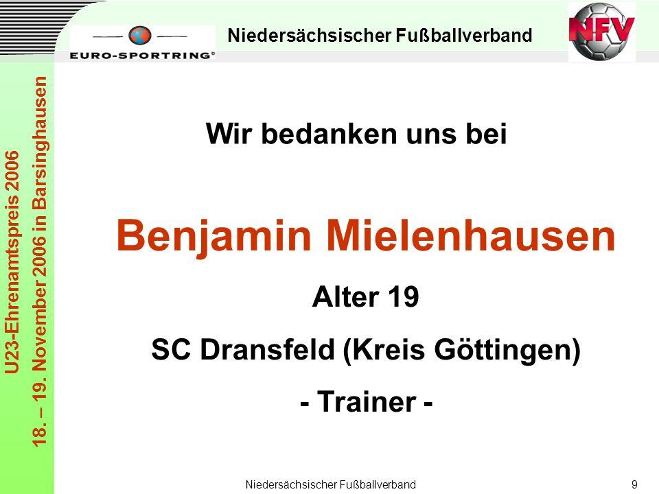 Benjamin Mielenhausen SC Dransfeld (Kreis Göttingen)