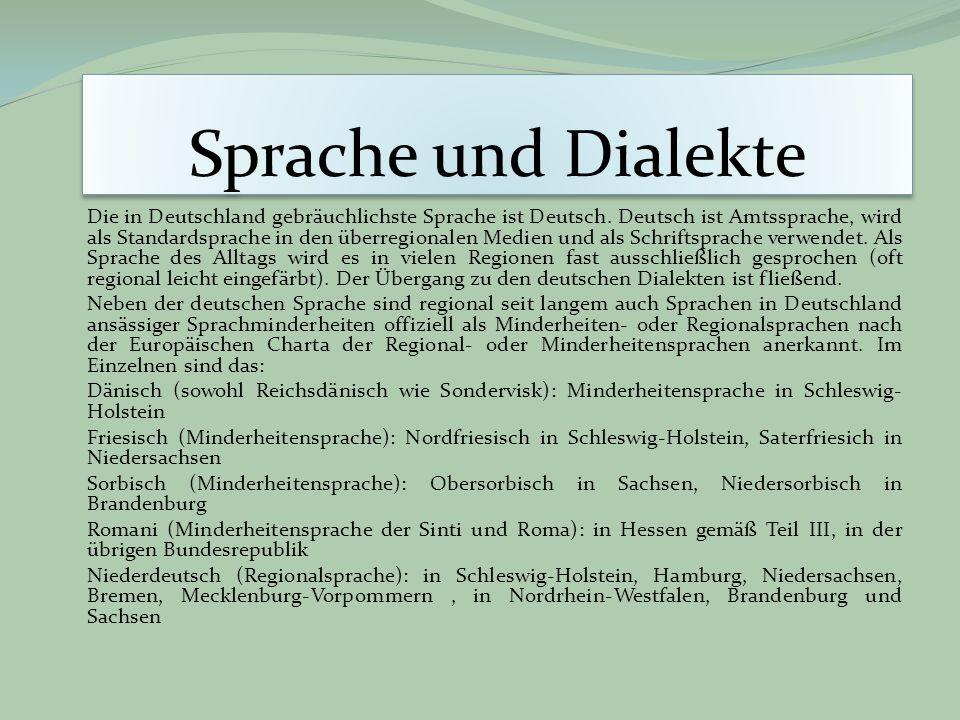 Sprache und Dialekte