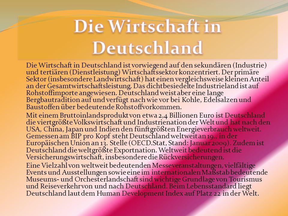 Die Wirtschaft in Deutschland