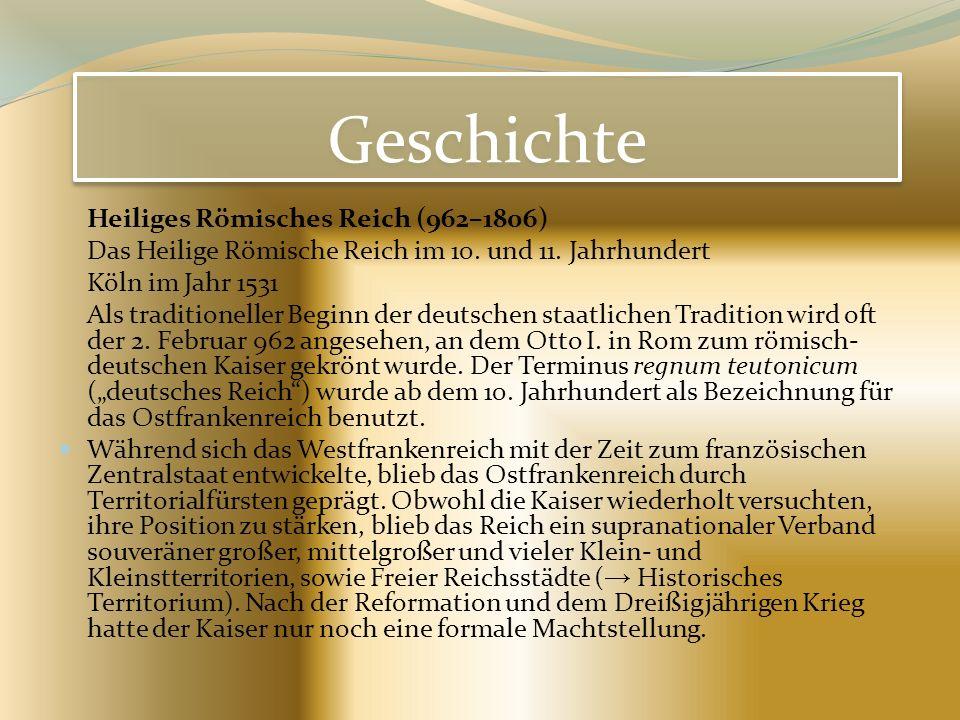 Geschichte Heiliges Römisches Reich (962–1806)