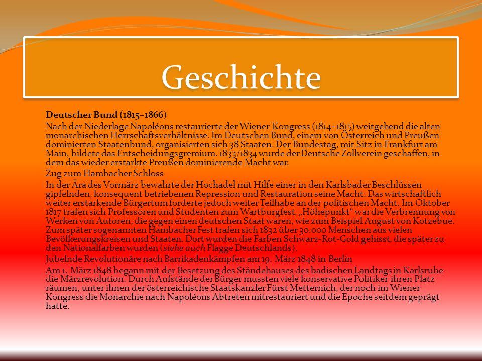 GeschichteDeutscher Bund (1815–1866)