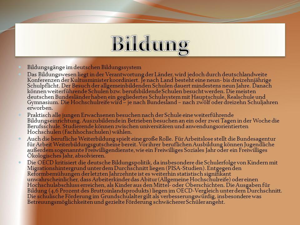 Bildung Bildungsgänge im deutschen Bildungssystem