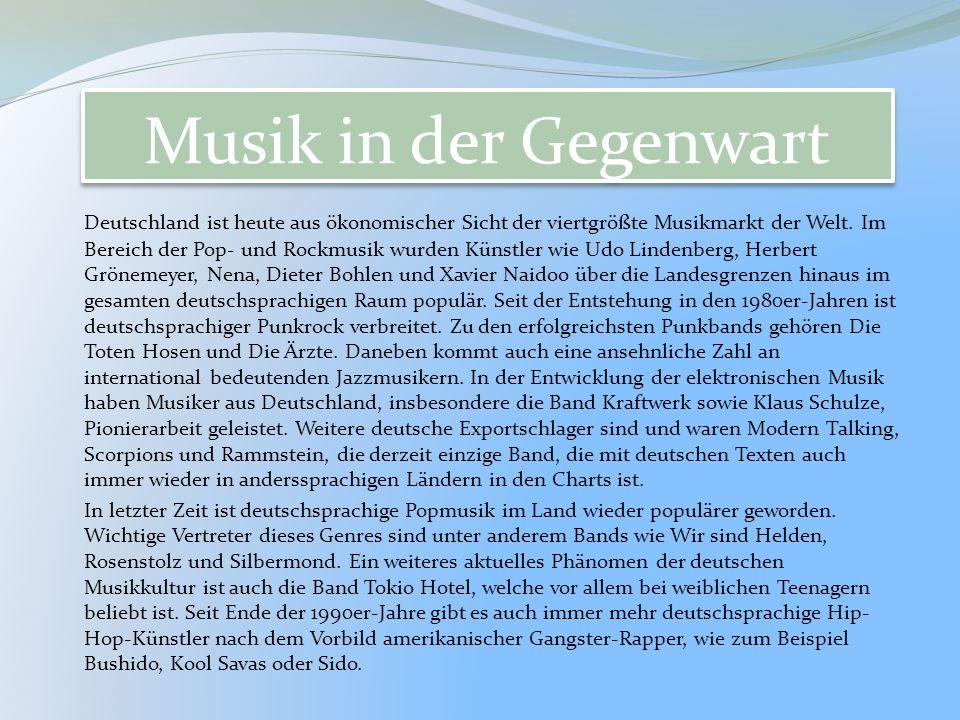 Musik in der Gegenwart