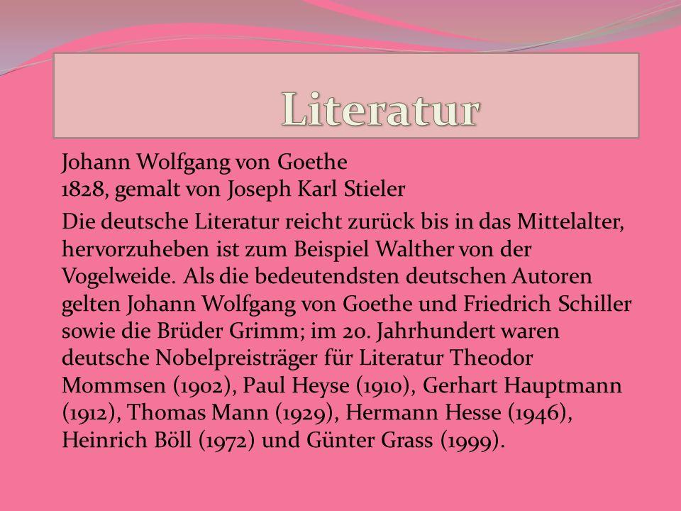 LiteraturJohann Wolfgang von Goethe 1828, gemalt von Joseph Karl Stieler.