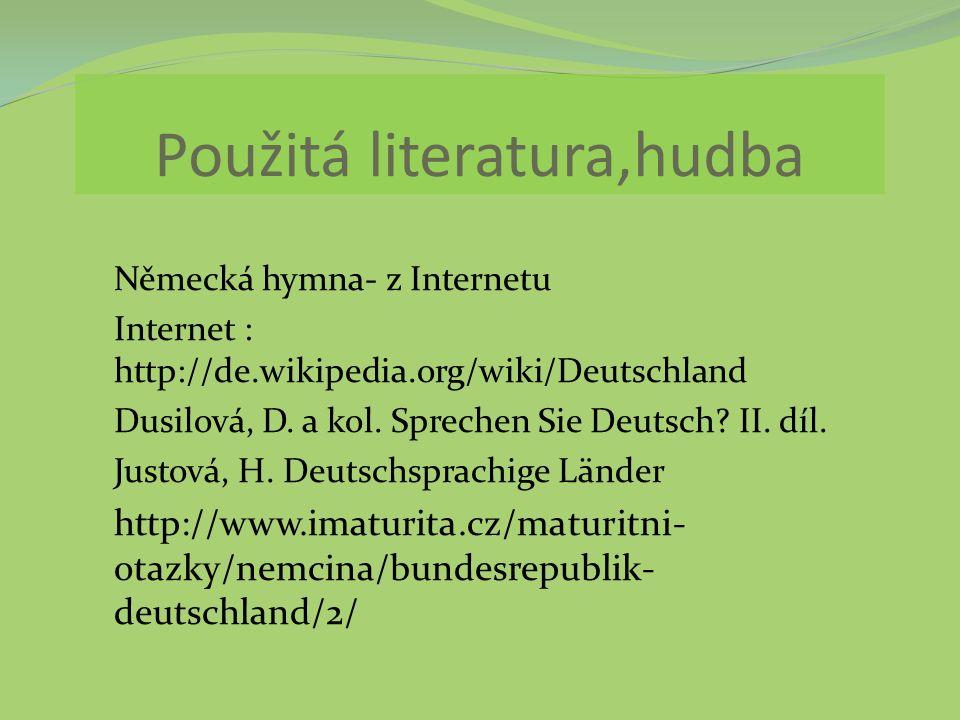 Použitá literatura,hudba
