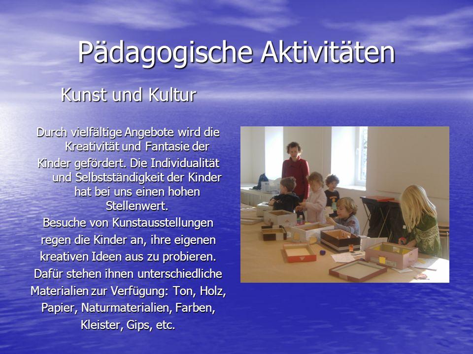 Pädagogische Aktivitäten