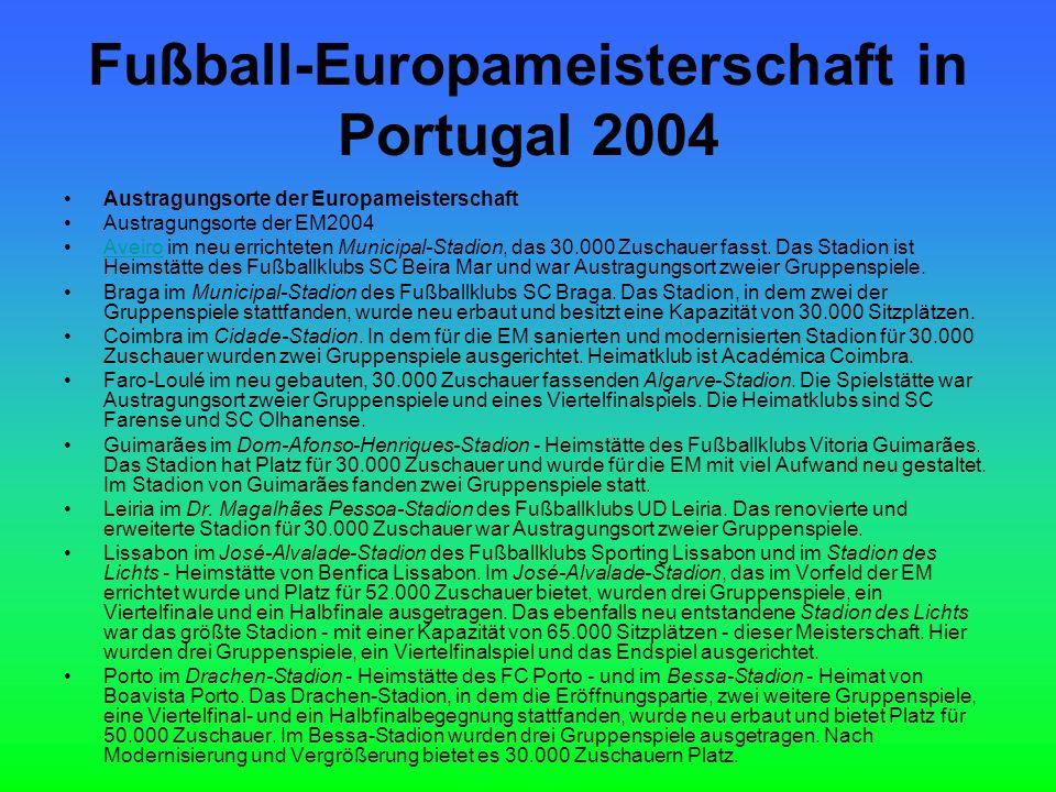 Fußball-Europameisterschaft in Portugal 2004