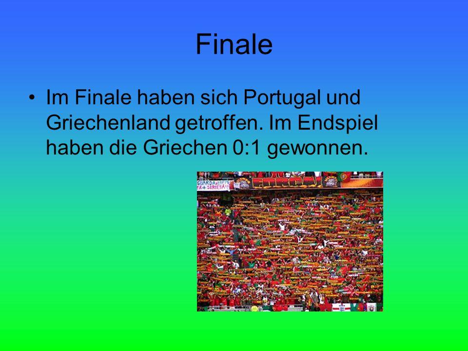 Finale Im Finale haben sich Portugal und Griechenland getroffen.