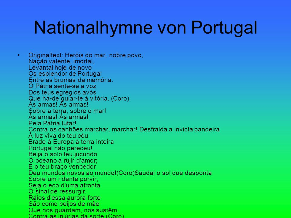 Nationalhymne von Portugal