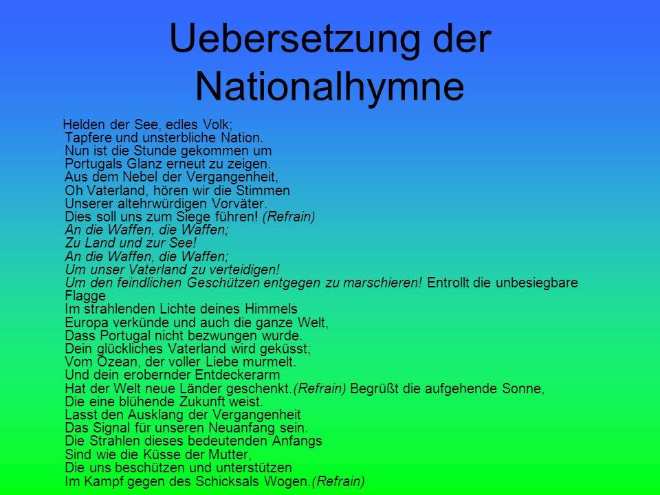 Uebersetzung der Nationalhymne