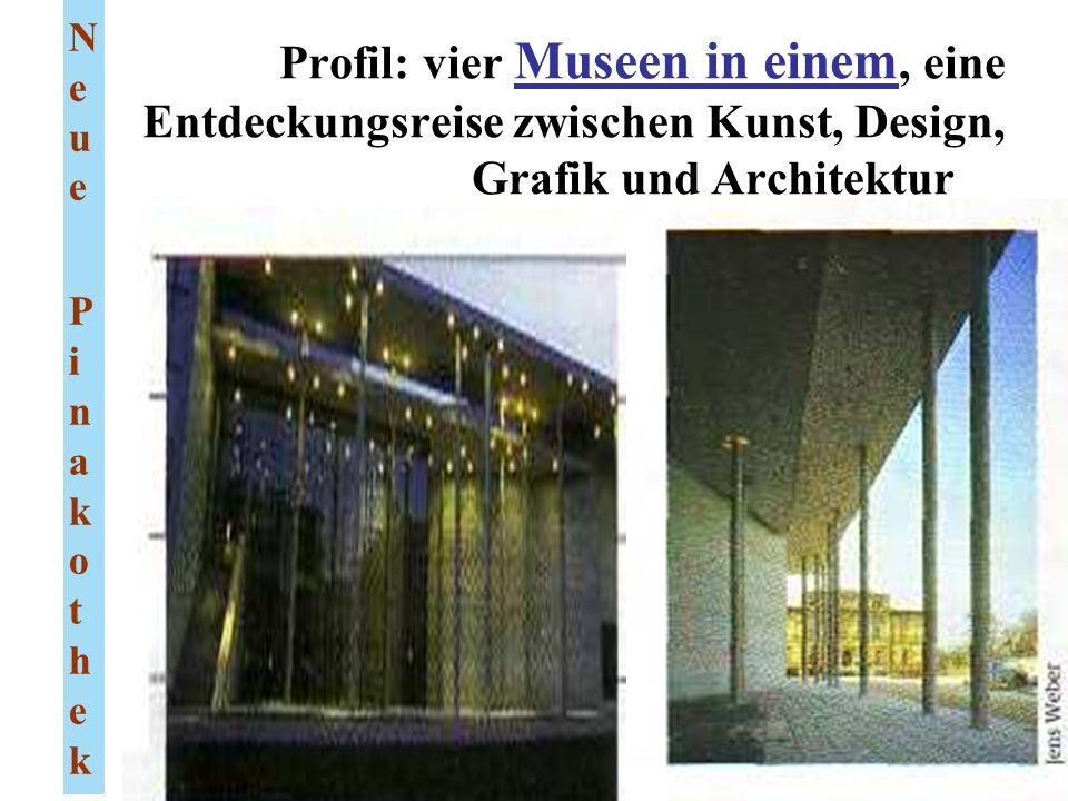 Profil: vier Museen in einem, eine Entdeckungsreise zwischen Kunst, Design, Grafik und Architektur