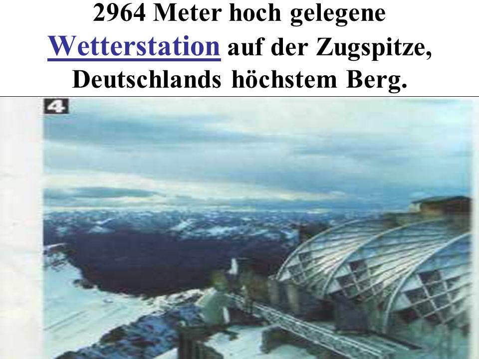2964 Meter hoch gelegene Wetterstation auf der Zugspitze, Deutschlands höchstem Berg.