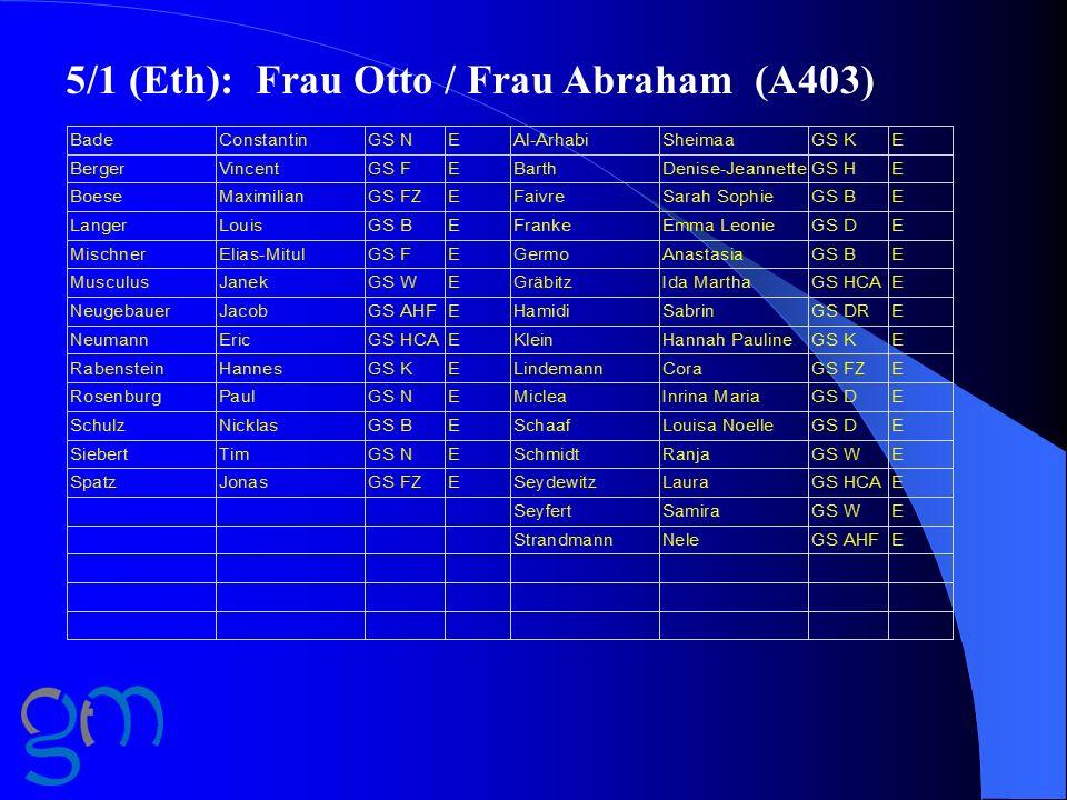 5/1 (Eth): Frau Otto / Frau Abraham (A403)