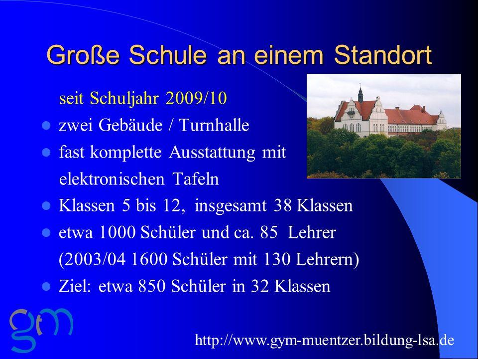 Große Schule an einem Standort