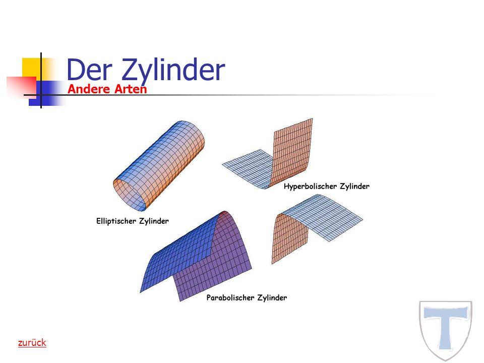 Der Zylinder Andere Arten zurück