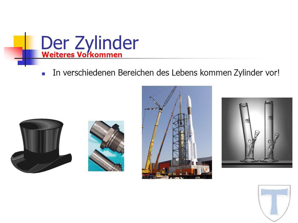 Der Zylinder Weiteres Vorkommen In verschiedenen Bereichen des Lebens kommen Zylinder vor!