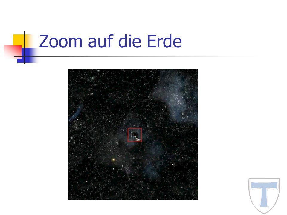 Zoom auf die Erde