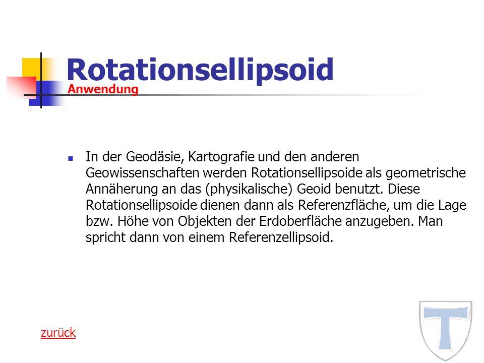 Rotationsellipsoid Anwendung.