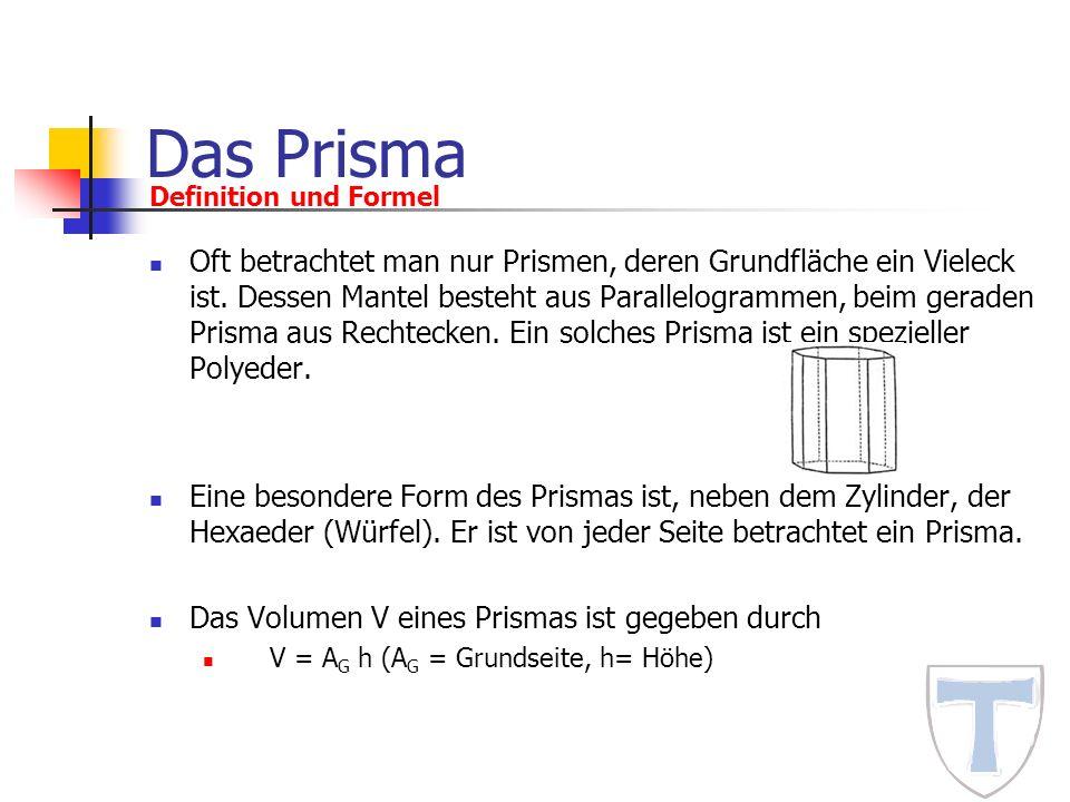 Das Prisma Definition und Formel.