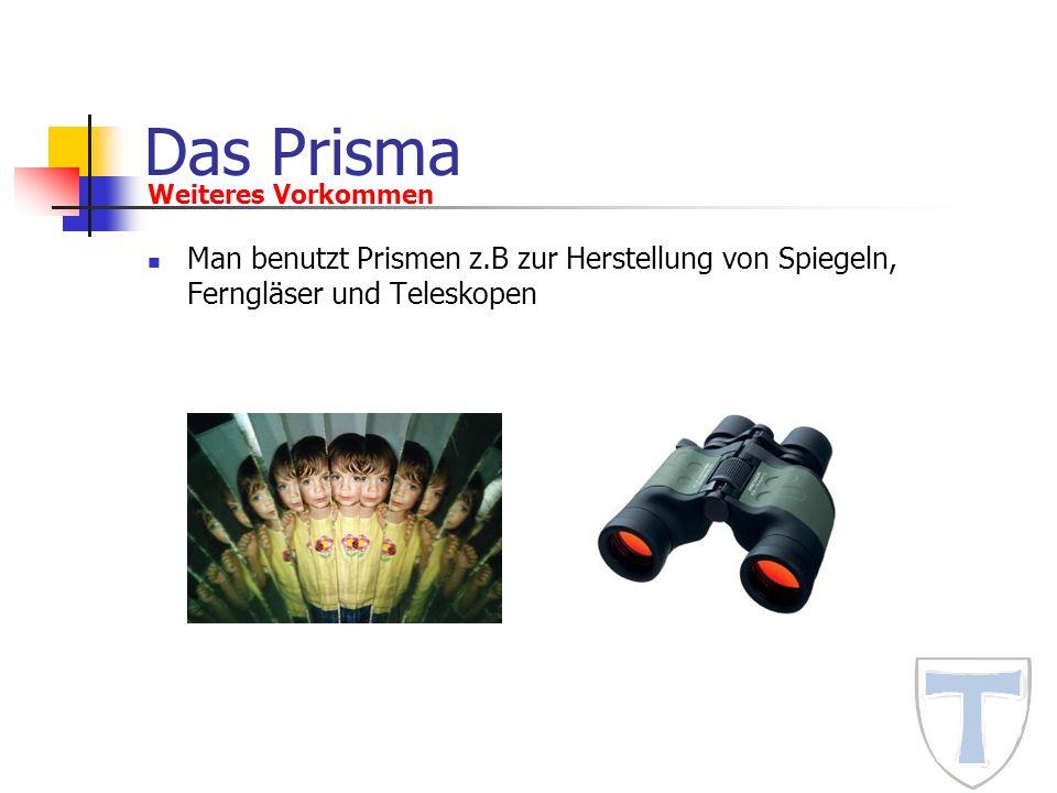 Das Prisma Weiteres Vorkommen.
