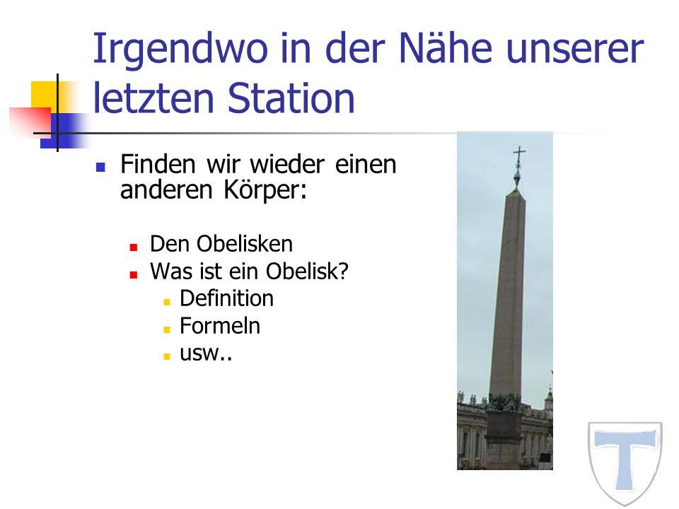 Irgendwo in der Nähe unserer letzten Station