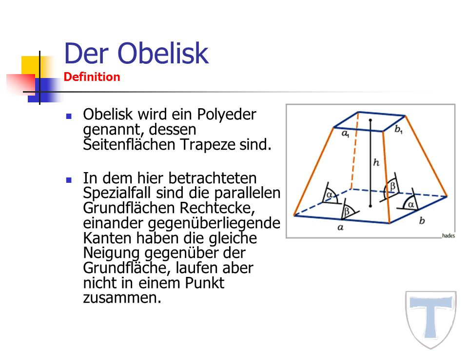 Der Obelisk Definition