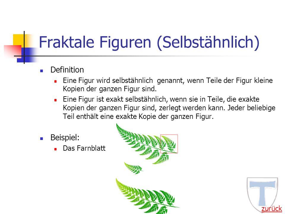 Fraktale Figuren (Selbstähnlich)