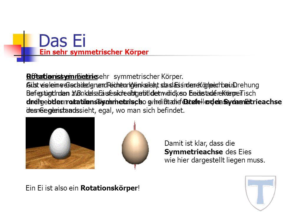 Das Ei Ein sehr symmetrischer Körper