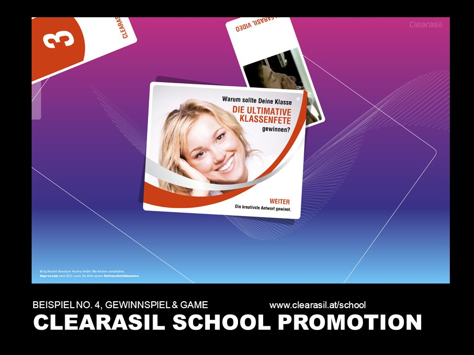 CLEARASIL SCHOOL PROMOTION