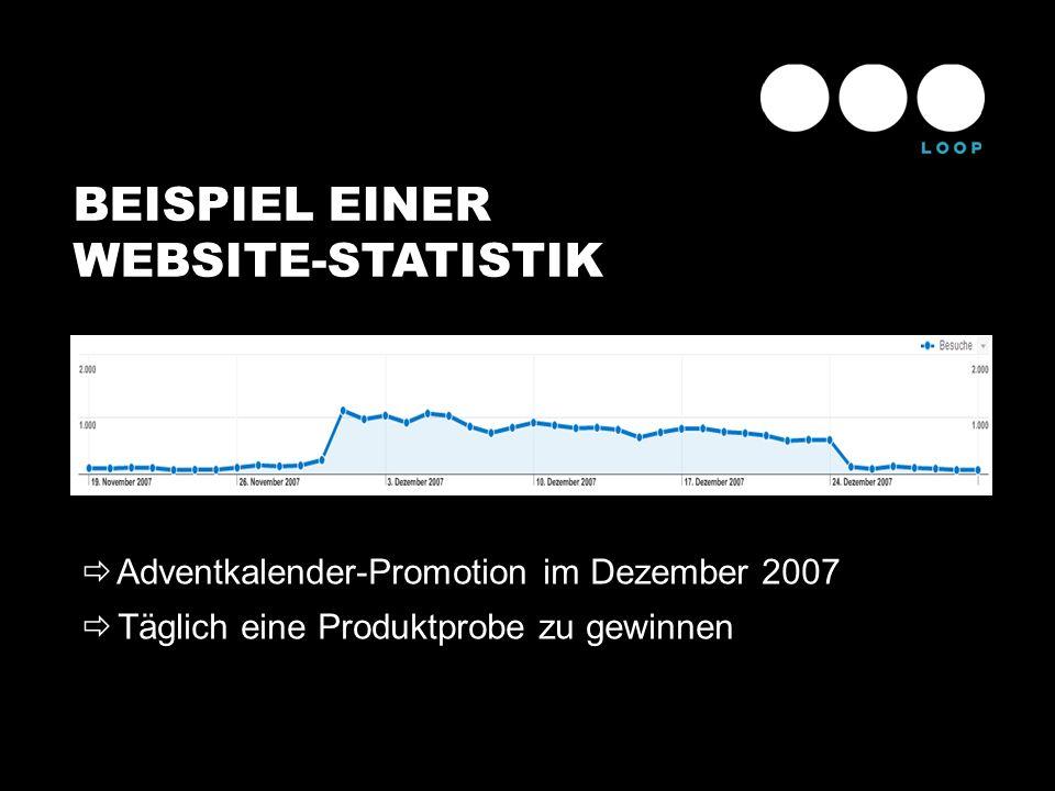 BEISPIEL EINER WEBSITE-STATISTIK