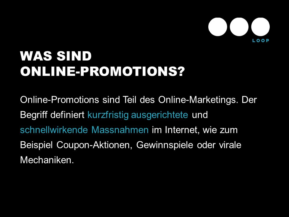WAS SIND ONLINE-PROMOTIONS
