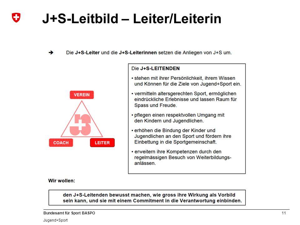 J+S-Leitbild – Leiter/Leiterin