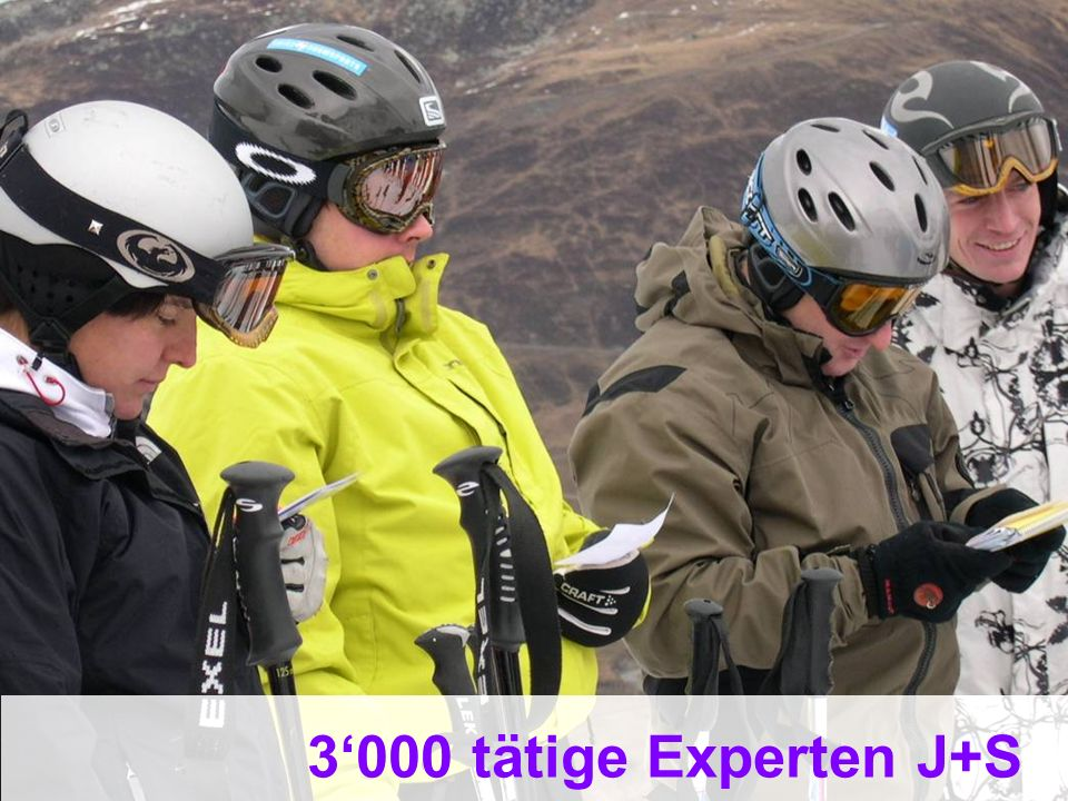 3'000 tätige Experten J+S