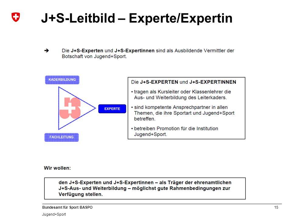 J+S-Leitbild – Experte/Expertin