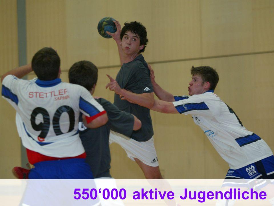 550'000 aktive Jugendliche