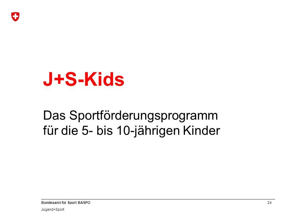 J+S-Kids Das Sportförderungsprogramm für die 5- bis 10-jährigen Kinder A 24