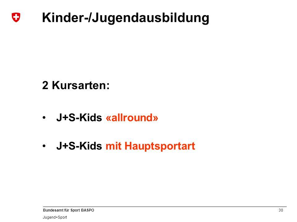 Kinder-/Jugendausbildung