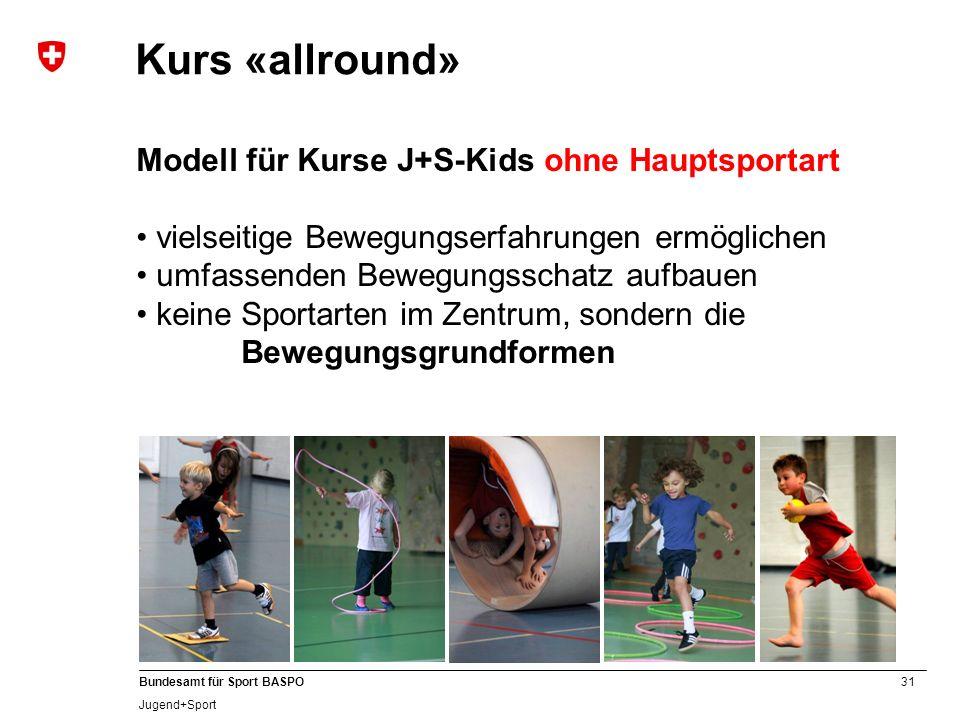 A Kurs «allround» Modell für Kurse J+S-Kids ohne Hauptsportart