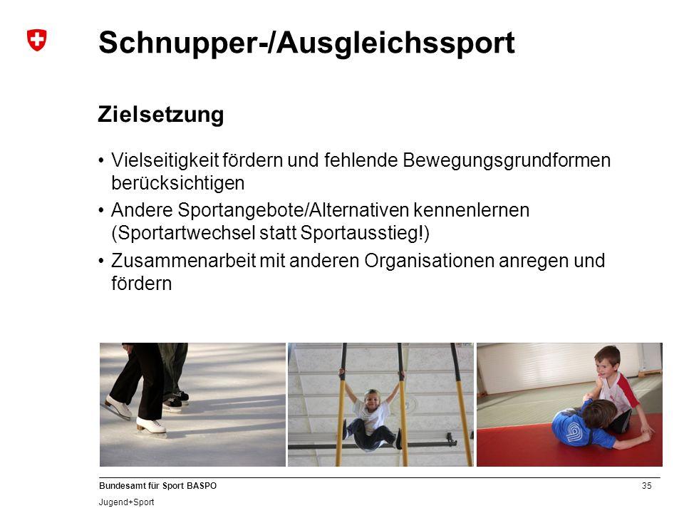 A Schnupper-/Ausgleichssport Zielsetzung