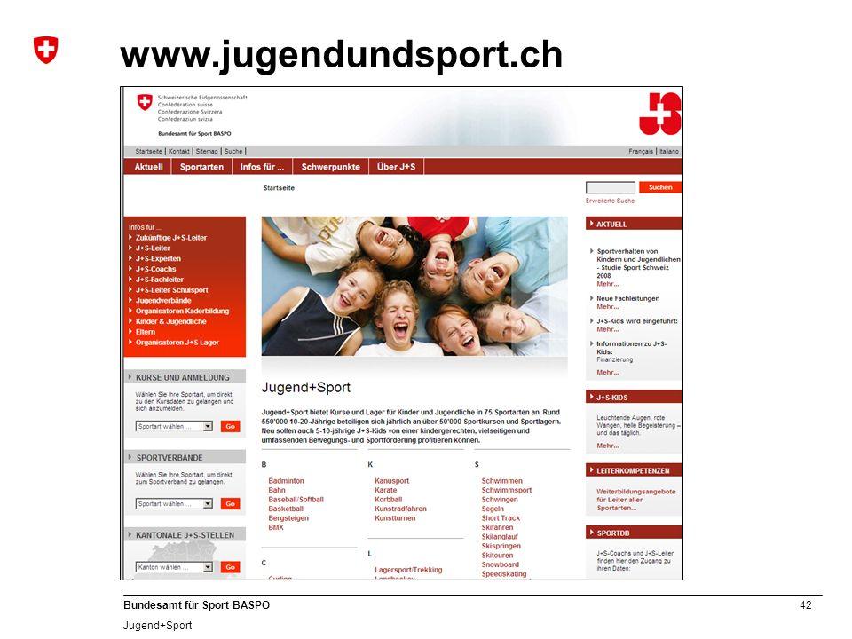 www.jugendundsport.ch A