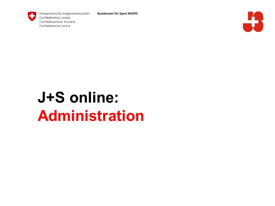 J+S online: Administration A