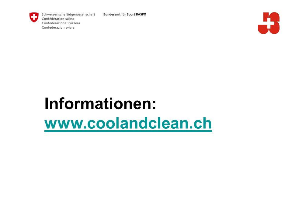 Informationen: www.coolandclean.ch B