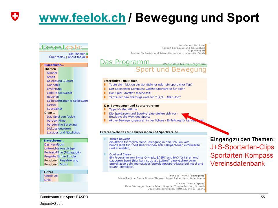 www.feelok.ch / Bewegung und Sport