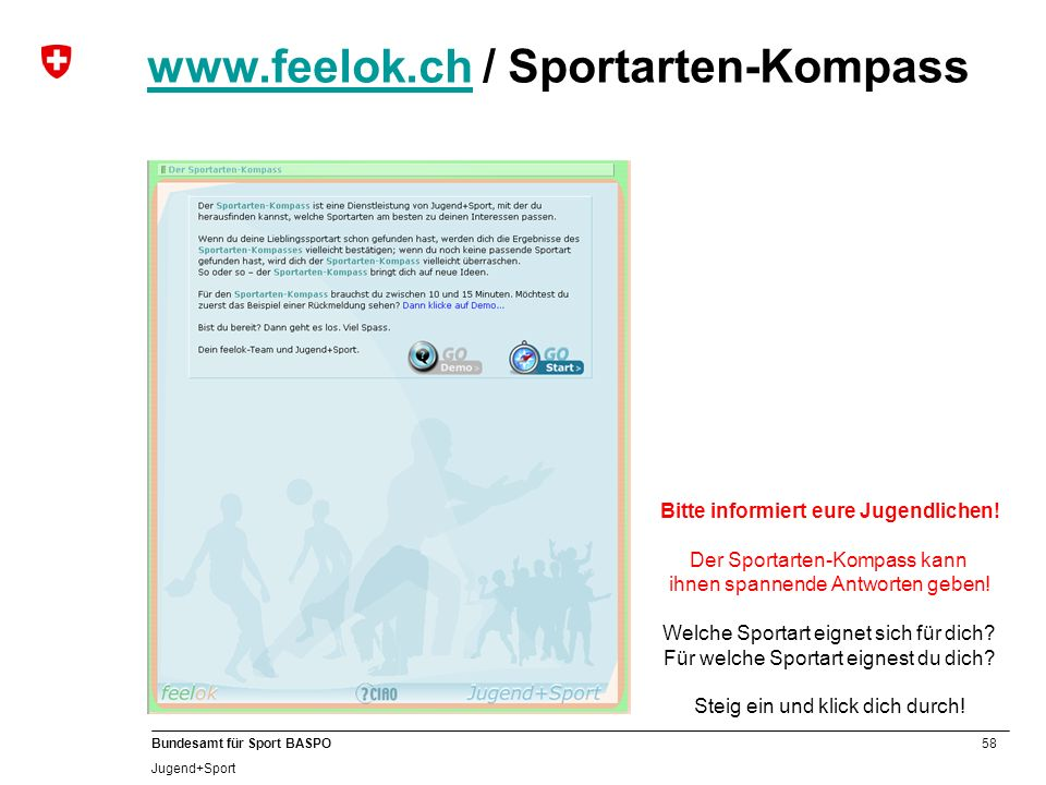 www.feelok.ch / Sportarten-Kompass